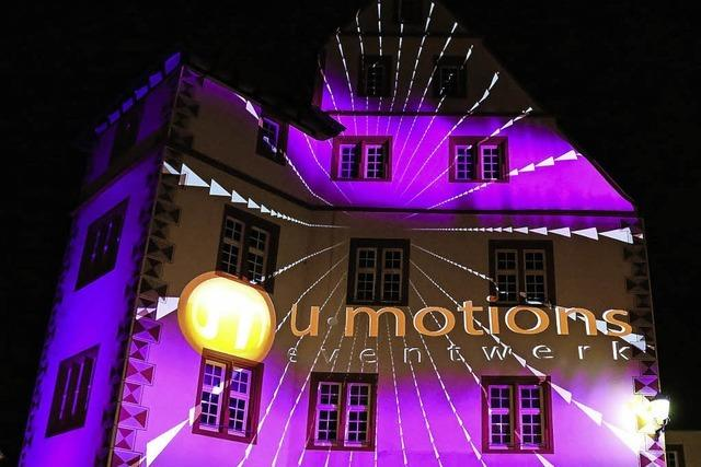 Spektakuläre Lichtprojektionen
