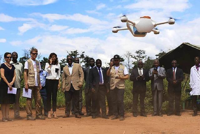 Drohnen für den Transport von Blutproben geplant