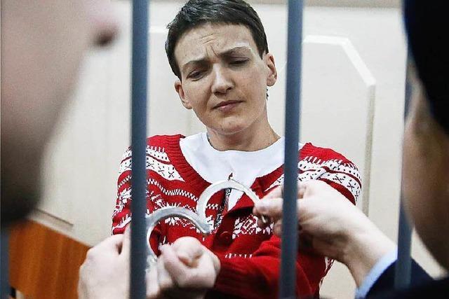 Russland lässt ukrainische Pilotin Sawtschenko frei