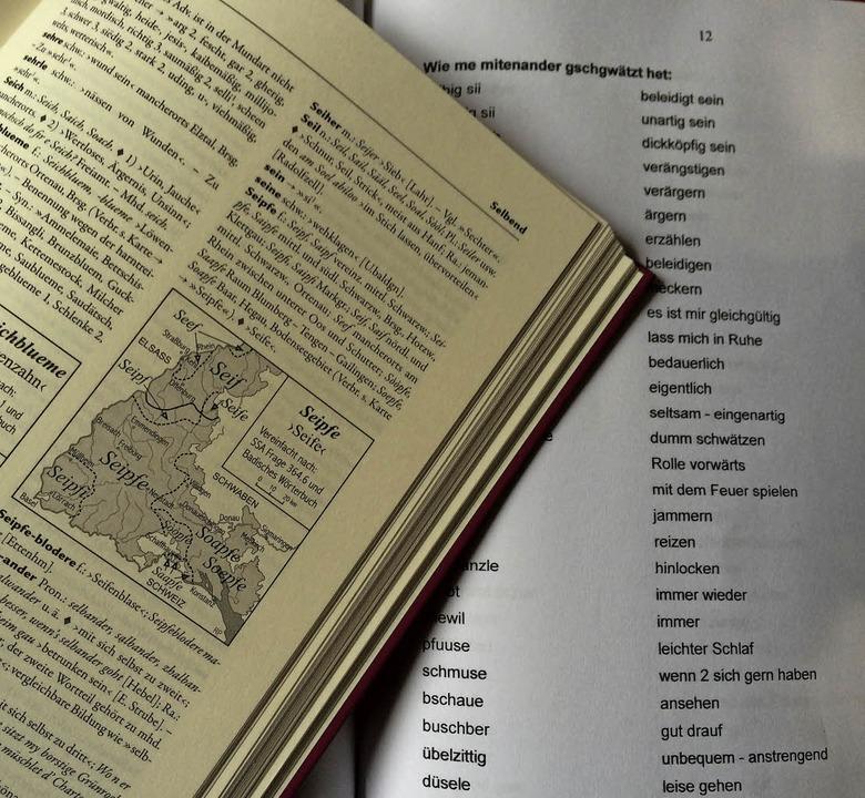 Alemannisch als Hobby - Karl Mannhardt...ortlisten aus dem Gedächtnis erstellt.  | Foto: Jutta Schütz