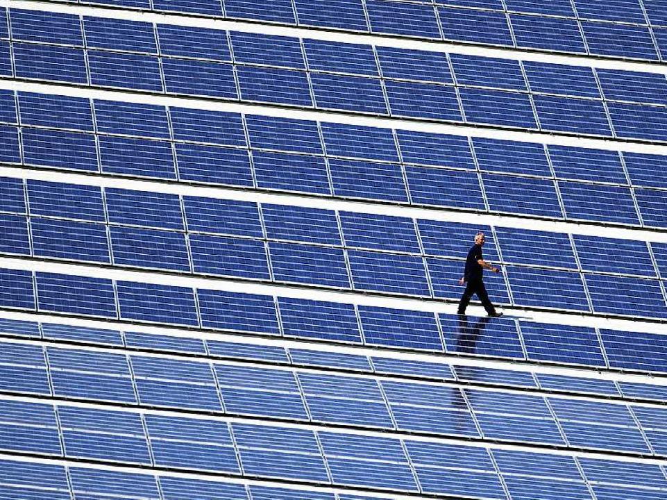 Bislang unzulässig privilegiert? Solar...n Anlagen, der selbst verbraucht wird.    Foto: dpa