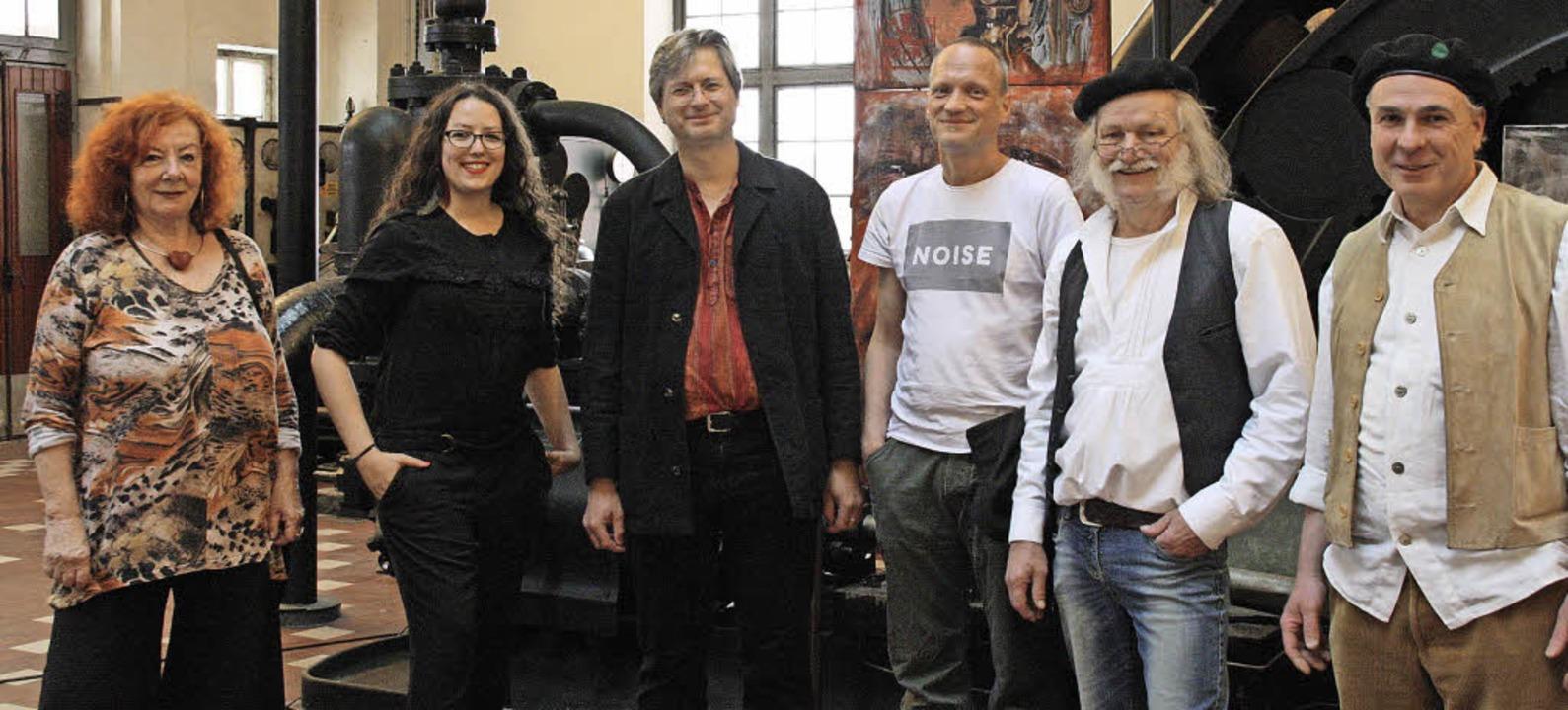 In der Ausstellung verbinden sie Kunst... Schneidereit. Es fehlt Sabine Felder.  | Foto: Franz