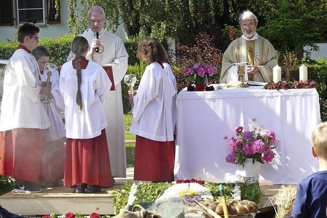 Zwei kirchliche Hochfeste in der freien Natur gefeiert