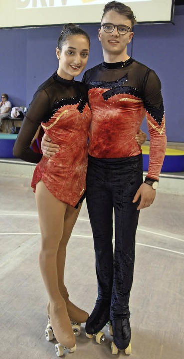 Alina de Silva und Tim Jendricke (Rollkunstlauf Freiburger Turnerschaft)  | Foto: privat