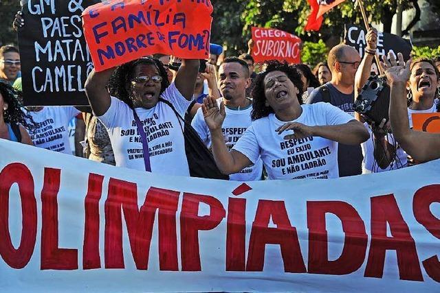 Eine Favela in Rio muss für Olympische Spiele weichen