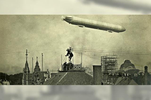 1909 flog ein Zeppelin über Freiburg - dabei entstanden beeindruckende Luftbilder