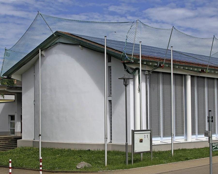 In Kürze kann die Solaranlage auf dem ...ufelberghalle ihren Betrieb aufnehmen.  | Foto: Cremer
