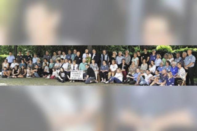 Zum Familientreffen des Ortshistorikers kamen auch Verwandte aus den USA