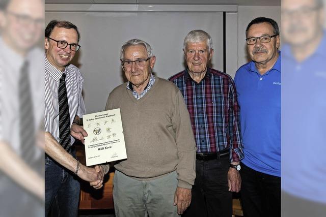 Seit 70 Jahren Mitglied im SV
