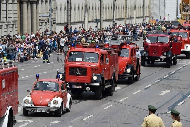 Feuerwehr-Parade in München