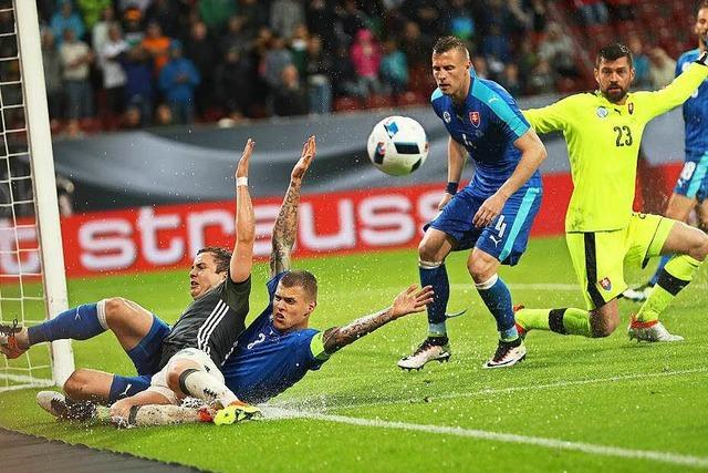Nationalelf verliert bei Unwetter gegen die Slowakei