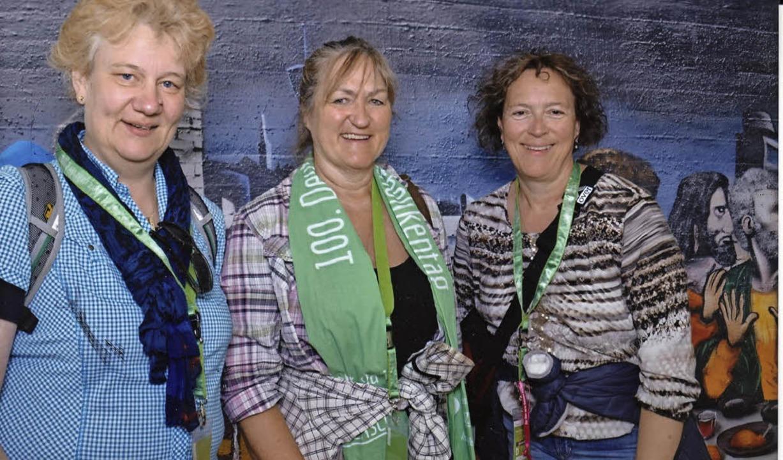 Drei Pfarrsekretärinnen  beim Katholik..., Uschi Völker und Barbara Holdenried   | Foto: Privat