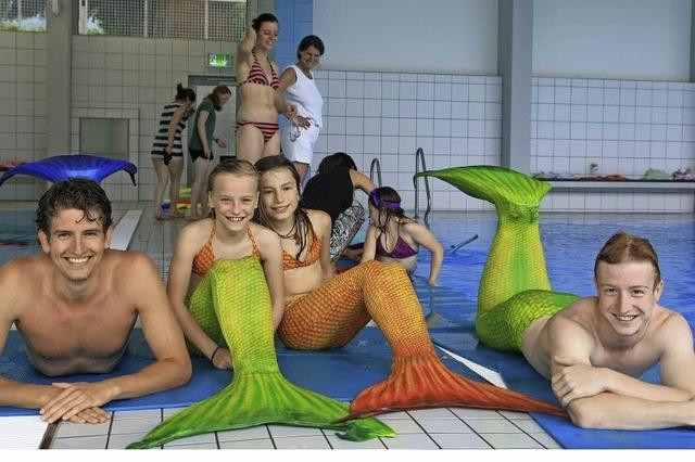 Wer schon immer mal als Meerjungfrau oder Neptun unterwegs sein wollte, kann dies in einem Kurs erlernen