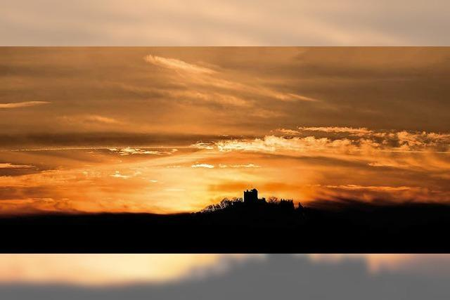 Die Burg von Biberach aus