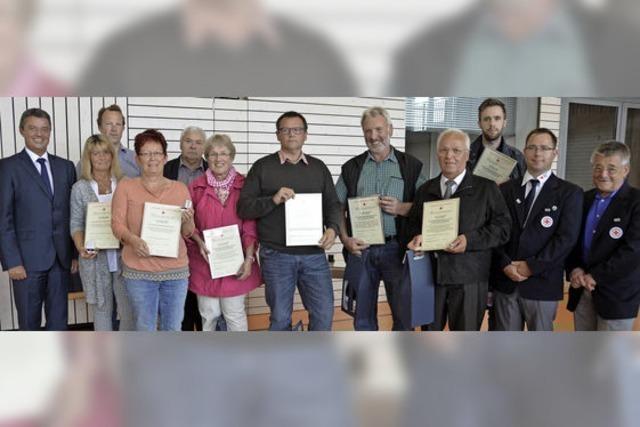 Vielfache Blutspender in Bad Krozingen ausgezeichnet