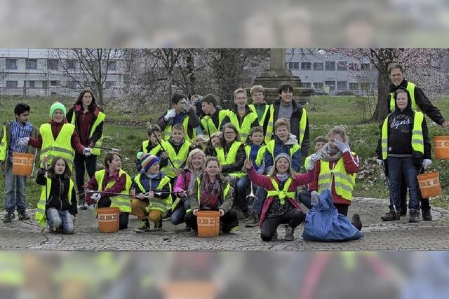 Die Stadt vom Müll befreit
