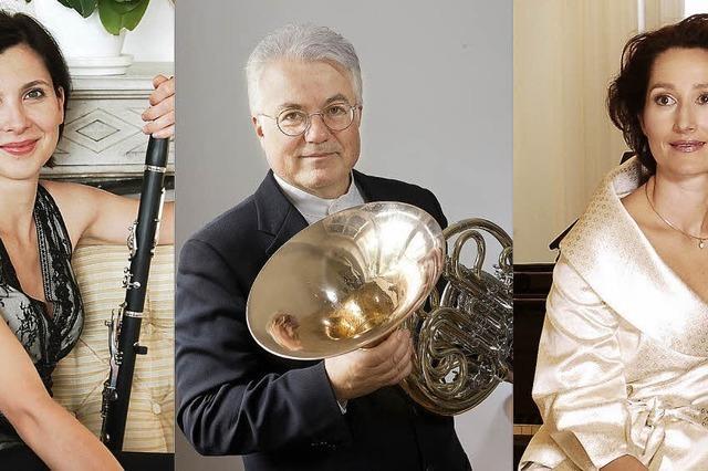 Ein Konzert mit Horn, Klavier und Klarinette
