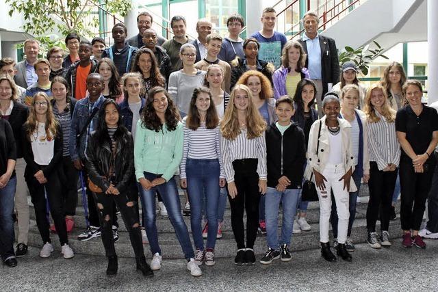Junge Franzosen am Kaiserstuhl