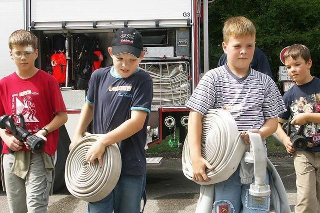 Exil für Kinder bei der Feuerwehr