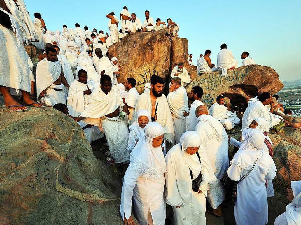 Pilger am Berg Arafat bei Mekka im Jahr 2010  | Foto: dpa