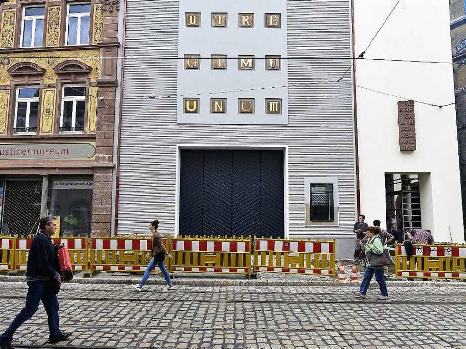 Bald fertig: der Museumsneubau an der Salzstraße  | Foto: Thomas Kunz