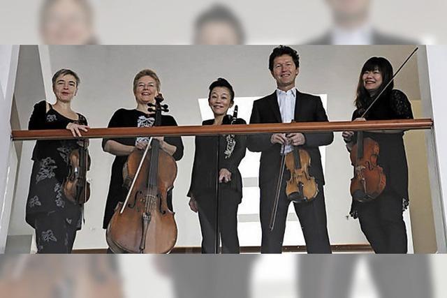 Fünf Musiker aus drei Freiburger Spitzenorchester spielen Mozart, Brahms und Hosokawa