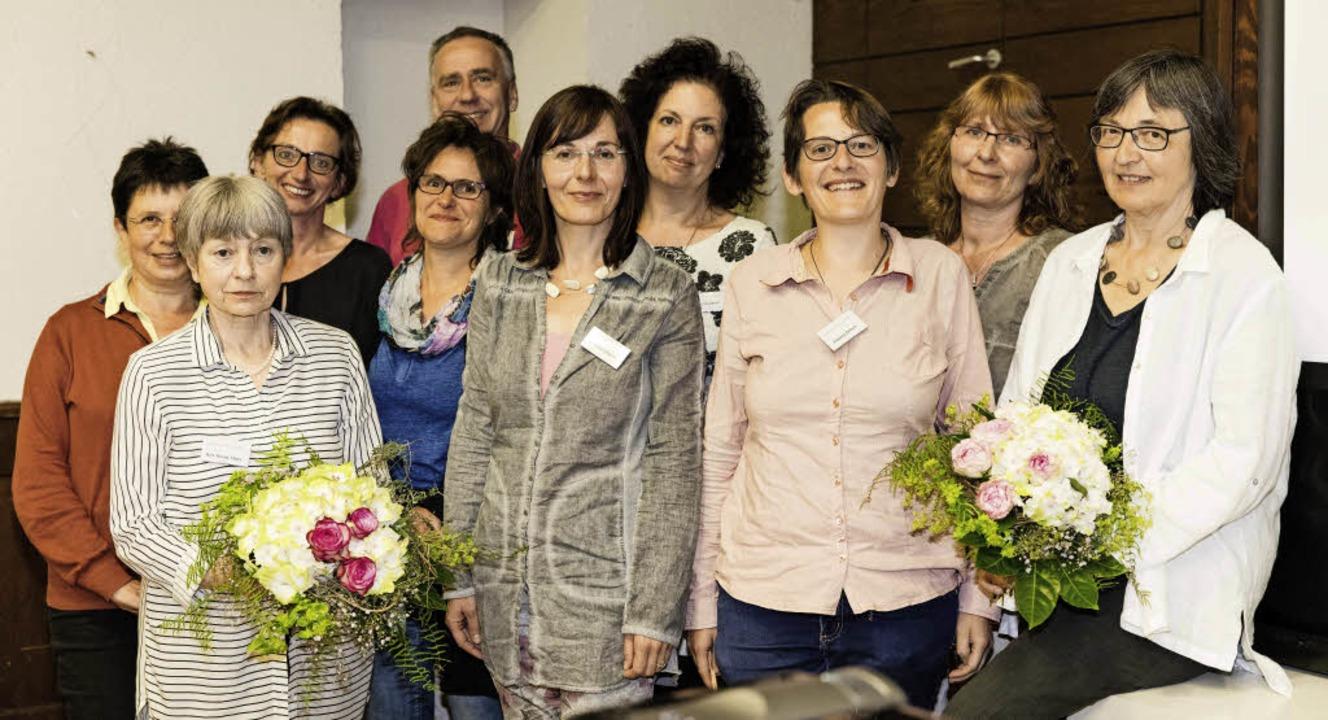 Das Mitarbeiterteam des Sozialdienstes...h für Menschen in Notsituationen ein.   | Foto: Gabriele Zahn