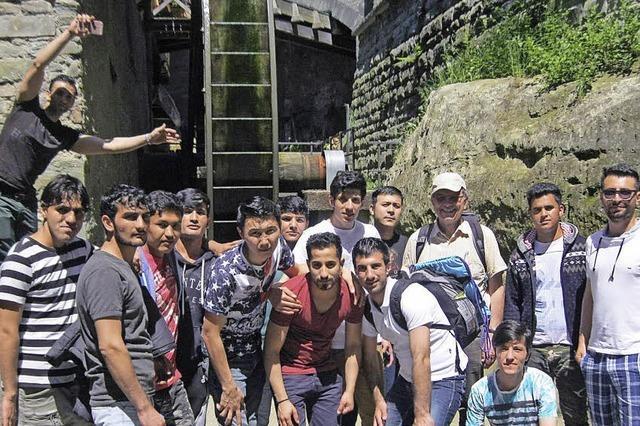 Ausflug mit Flüchtlingen