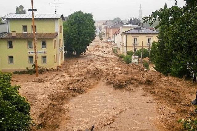 Katastrophenalarm: Drei Orte in Bayern überschwemmt