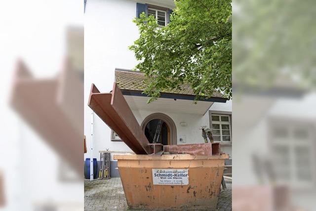 Altweiler Pfarrhaus wird ausgebeint