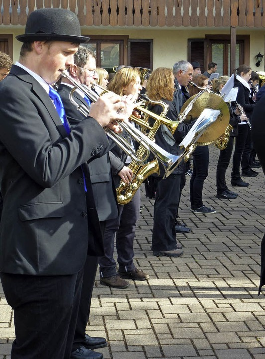 Auch Marschmusik macht Spaß.  | Foto: privat