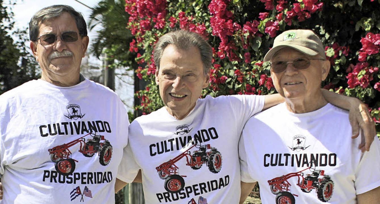 <ppp></ppp>&#8197;seine drei Produzent...enthal und Horace Clemmons (von links)  | Foto: Lichterbeck