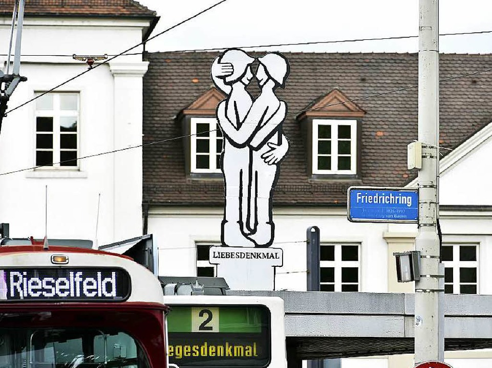 "Da stand's mal: das ""Liebesdenkmal""  | Foto: Thomas Kunz"