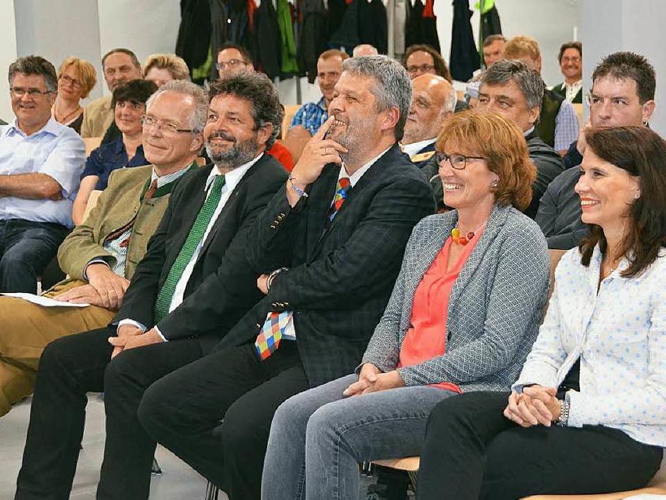 Beste Stimmung herrschte beim Festakt zur Eröffnung der Holztage in Bonndorf.  | Foto: Juliane Kühnemund