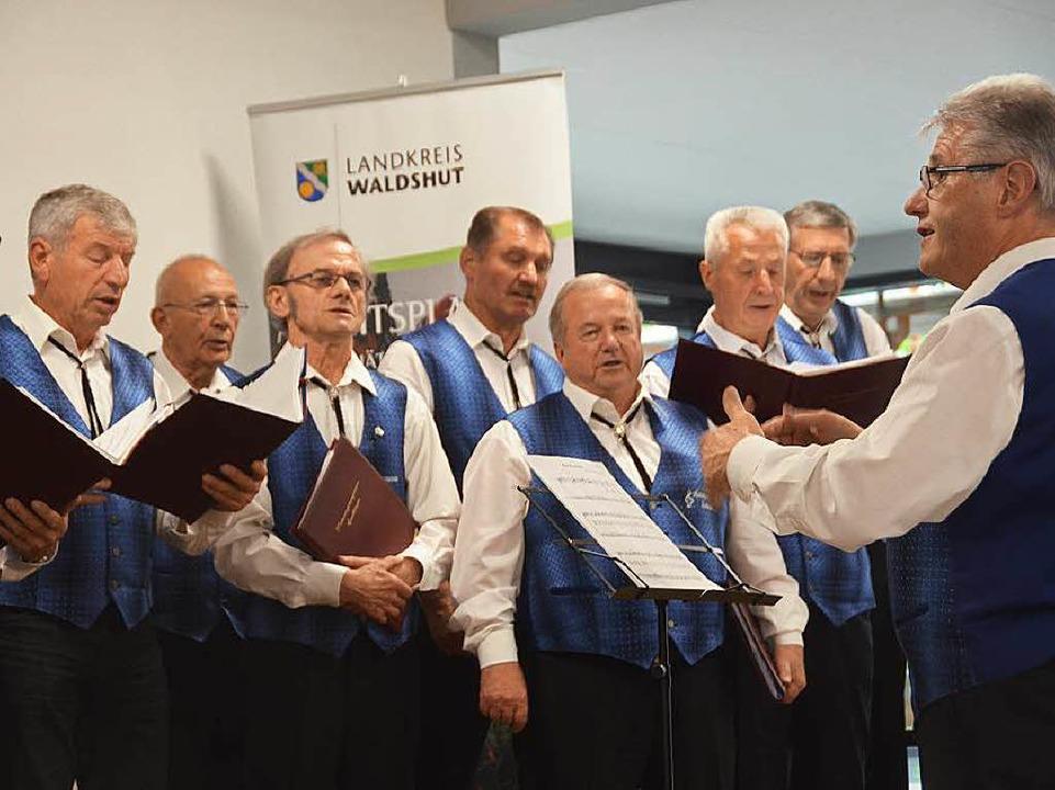 Mit flotten Liedern unterhielt der Männergesangverein Ewattingen.  | Foto: Juliane Kühnemund