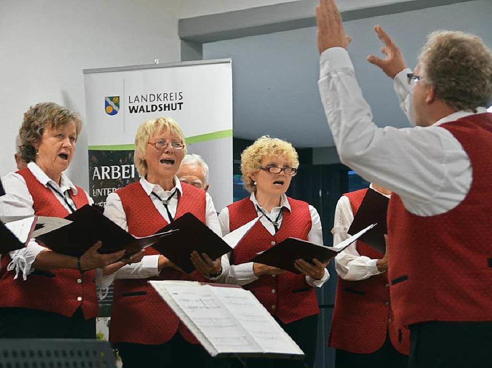 Für beste musikalische Unterhaltung so... der Chor Liederkranz aus Grafenhauen.  | Foto: Juliane Kühnemund