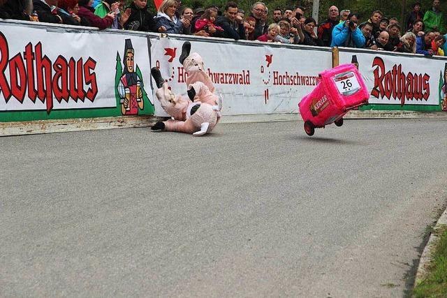 So lief das Dreckeimerrennen in Titisee-Neustadt
