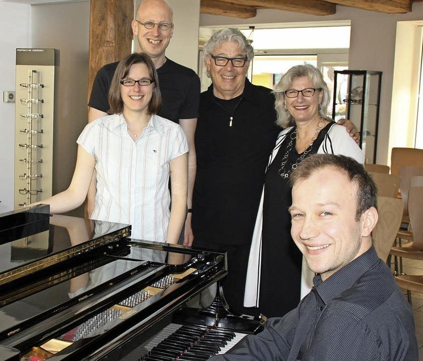 Gelungene Matinee in Bad Säckingen: di... Pianisten  Bogdan Vaida ( von links )    Foto: Andreas Böhm