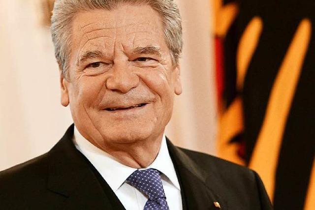Gauck erklärt Verzicht auf zweite Amtszeit als Bundespräsident