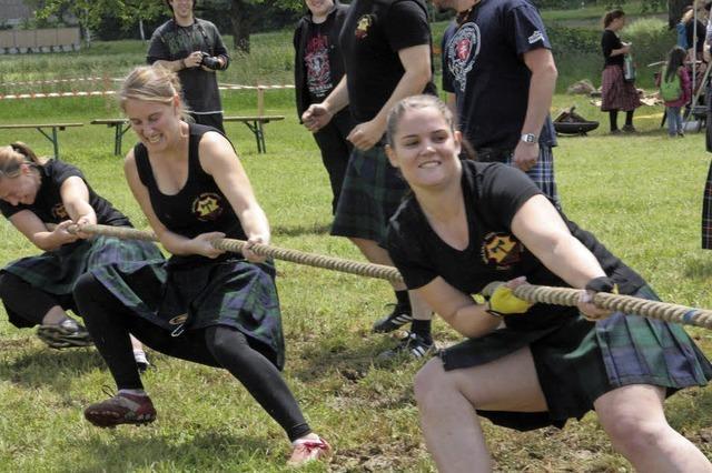 Kraftvoller Sport im Schottenrock