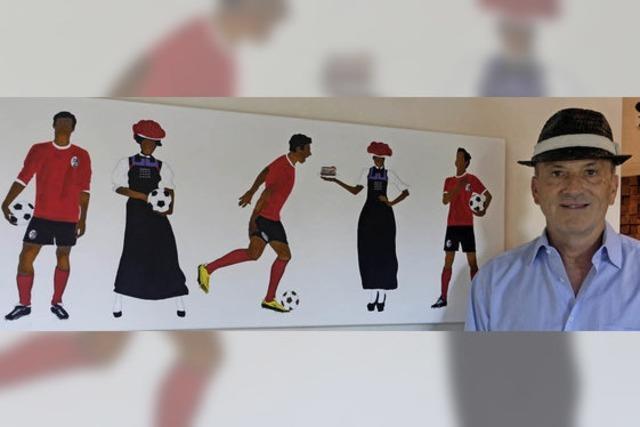 Wie der Künstler zum Fußballfan wird