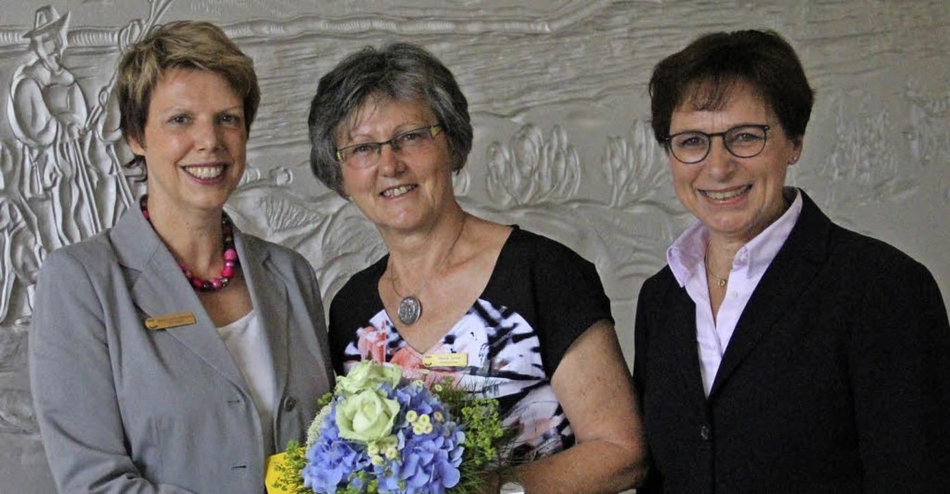 Empfang im Rathaus: Ulrike Antonia Szt...in Offenburg) mit OB Edith Schreiner.   | Foto: Judith Reinbold