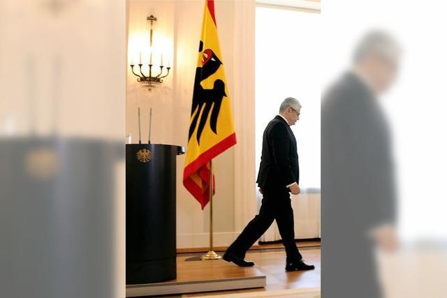 Gauck erklärt Amtsverzicht