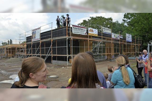 Rohbauphase des Kindergarten Elzdammnest ist abgeschlossen