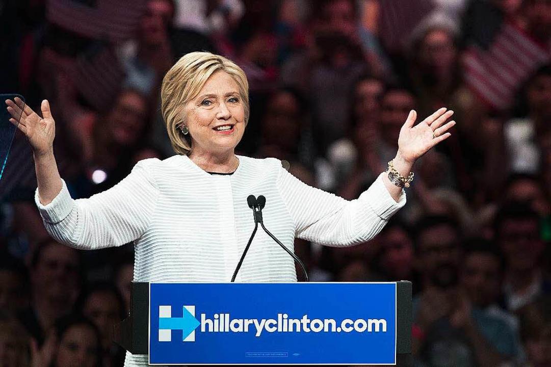 Hillary Clinton feiert    Foto: AFP