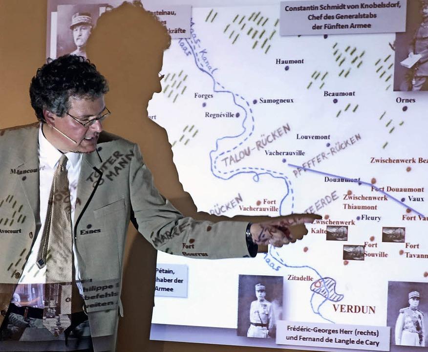 Dr.  Olaf Jessen bei seinem beeindruck...un 1916.                                | Foto: Andreas mahler