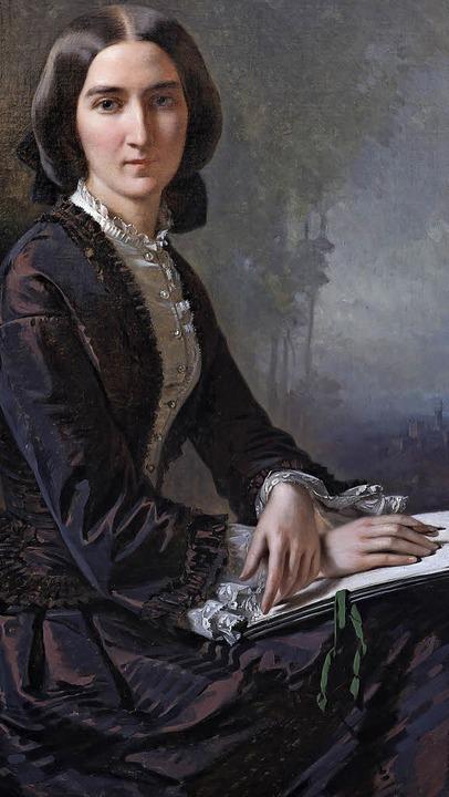 Alexandra von Berckholtz porträtiert von ihrem Akademielehrer Richard Laucher.   | Foto: Ritterhaus