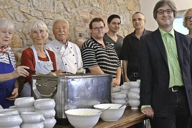 Spende in der Suppenküche