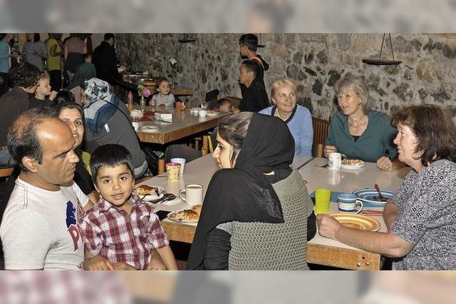 Willkommensfest für Flüchtlinge im Ratskeller