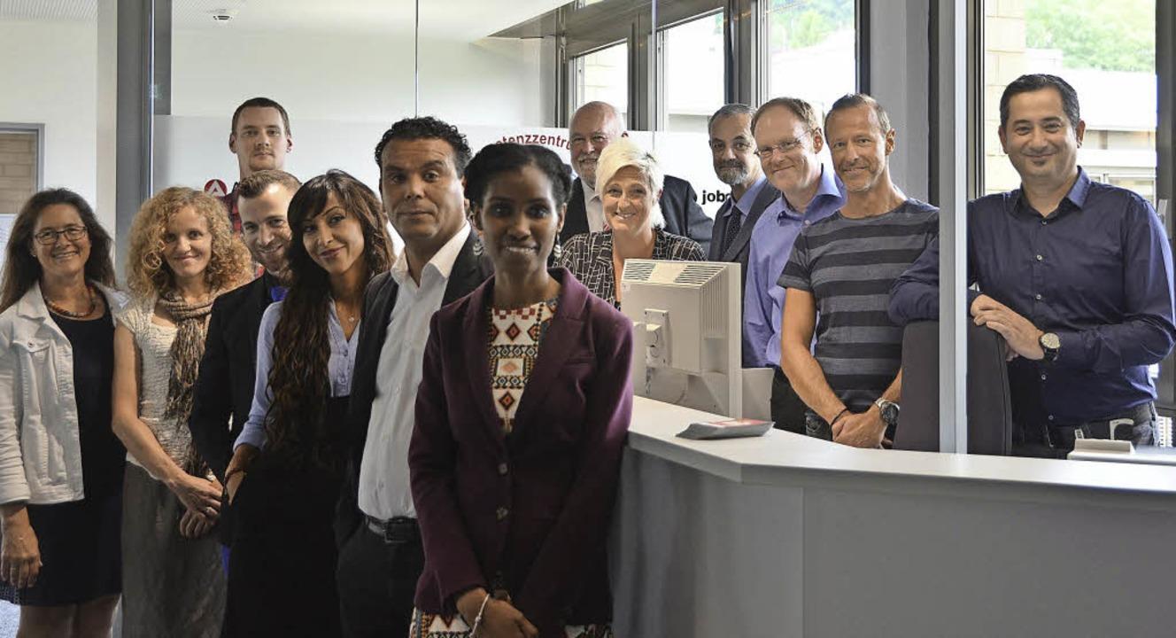 Das Team des neuen Kompetenzzentrums A...r Günter Michel (hinten in der Mitte)     Foto: Baas